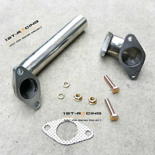 Universal Stainless Steel 35mm 38mm Wastegate Exhaust Downpipe + Elbow Adaptor