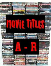 Lot of DVD Movies A-R PICK & CHOOSE Quantity Discount Action Drama Comedy Family