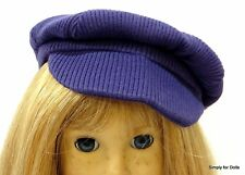 "PURPLE Corduroy NEWSBOY DOLL CAP HAT fits 18"" AMERICAN GIRL Doll Clothes"