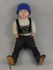 alte Puppe Trachtenpuppe Junge