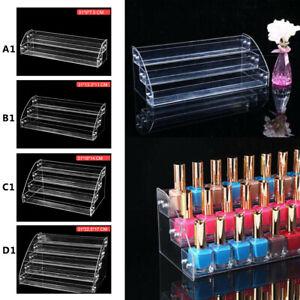 2-5 Tier Acrylic Varnish Organiser Holder Desk Storage Display Nail Polish Stand