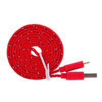 Trenzado sincronización datos USB Cargador Con Cable para iPhone5 5C 5S 6 6+