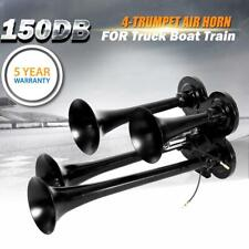 150db 4 Trumpet Train Air Horn Kit Loud Truck Pickup For Ford Chevy Ram Toyota