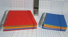 "Papyus Rainbow Color-Red Yellow Blue Writing Note Pads Spiral Bound 6"" & 8"" tall"