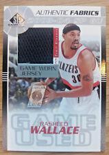 2003 UPPER DECK RASHEED WALLACE PORTLAND TRAILBLAZERS GAME JERSEY CARD 00050