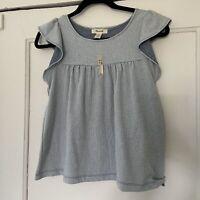 Madewell Girl's Flutter Sleeve Strip Top-XL-NWT