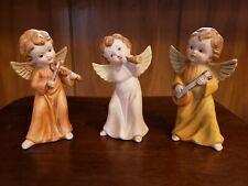 Vtg Trio Homco Victorian Heavenly Band Angels Instruments 5400 Porcelain Bisque