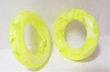 Pair Yellow Marble Light Acrylic Seamless Segment Hoops Rings Plugs 2 gauge 2g