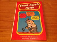 Great Aussie Trivia Malcolm Andrews Hard Cover Book 1986 Edition
