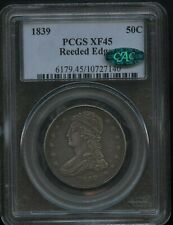 1839 Reeded Edge Bust Half Dollar Super Original PCGS  XF 45 CAC Approved