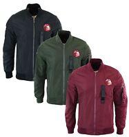 Mens MA1 Military Bomber Zip Flight Army Jacket Coat Harrington Varsity Babeball