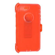 iPhone 6/6s, 7, 8 Transparent Clear Orange Defender Case (Clip Fit Otterbox )