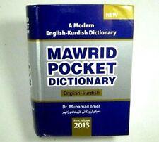 A Modern English - Kurdish Dictionary MAWRID 18000 Words New First Edition 2013