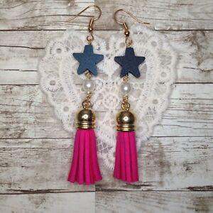 Fashion Women Star Drop Dangle Tassel Earrings