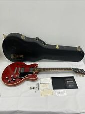 More details for gibson custom shop es3399 59' neck electric guitar in cherry red, w/case + coa