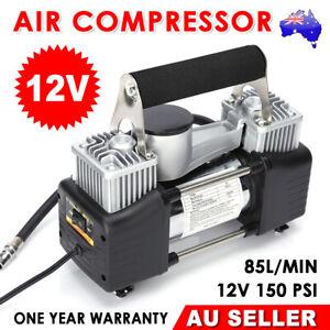 Portable 12v Car air compressor 4WD 85L tyre inflator pump Deflator hose truck