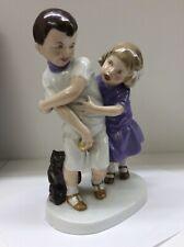 Fraureuth Porzellan figur  Spielende Kinder 26cm