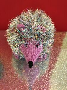 Hand knitted Tinsel Hedgehog