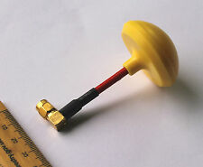 Yellow Moy Mushroom Antenna / Aerial FPV 5.8G SMA right angle for TX or RX video