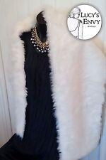 White Faux Fur Wrap Shrug Shawl Bridal Wedding by Lucy's Envy W102