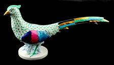 Herend (Hungary) Porcelain Green Fishnet Pheasant Figurine (Looking Left)