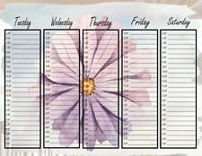 Printable Appointment Planner Pages, Flower, floral, Daily, Weekly, Planner