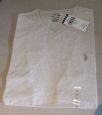 Polo Ralph Lauren BNWT Excellent V-Neck Chalk Unisex Mens Ladies T-Shirt Size S