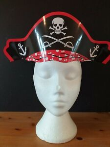 10 X Pirate Card Hats*Party Bag Filers*Skull And Crossbones Party Hats UK SELLER