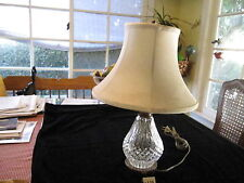 """WATERFORD 3 WAY LAMP, 18"""" BASE TO FINIAL, GOOD CONDITION"""