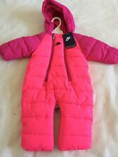 NWT Baby Girls Nike Snow Suit Size 6-9 Months Pink $45