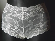 2x Taillen Slip Panty Gr.40 M in Creme aus Stretch Spitze UK 12 M&S Lace