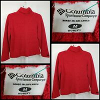 Columbia Women Casual Formal Career Fleece Sweater Size Medium Red
