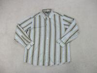 Ermenegildo Zegna Shirt Adult 2XL XXL Brown Long Sleeve Button Up Casual Mens