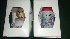 Lot of 2 Porcelain Family Mama bears new 3 ''
