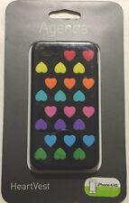 Agent18 HeartVest Case -Black/Multi for iPhone 4/4s WIPHVX/BM