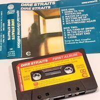 DIRE STRAITS DEBUT ALBUM 1978 CASSETTE TAPE ALBUM CHROME EDITION VERTIGO
