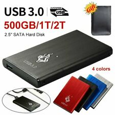 2TB USB 3.0 External Hard Disk Drive SATA III Memory Storage HDD Devic PC Laptop