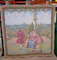 """NEW Baroque Tapestry Wall Hanging Classical Pastoral Scene Renaissance 32"""" Sq."""