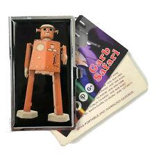 Robot Tin Business Card ID Holder Retro Wind Up Toy Design Chrome