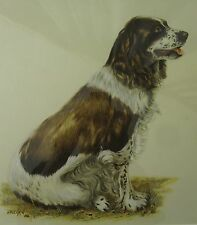 VINTAGE ARTHUR R. EAKIN SPANIEL FLUSHER BIRD HUNTING DOG LISTED ARTIST PAINTING