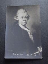 GOTTHOLD EPHRAIM LESSING - GERMAN WRITER -   UNUSED POSTCARD 1907 - 1915