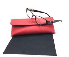 Guess Women Black Rectangular New Eyeglasses GU 2412 BLK 52 Plastic