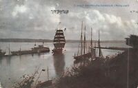 POSTCARD   DORSET  WEYMOUTH  Harbour   (  Moonlight  )