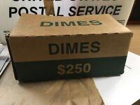 Original Storage Box for Storage of 100 Rolls of Dimes