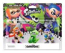 Inkling Girl & Boy & Squid amiibo - 3-Pack [Nintendo Wii U, Splatoon Series] NEW