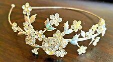 Jeweled Headband w Crystals Hair Accessory Wedding Bridesmaid Prom Jewelry Band