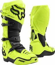 2020 Fox Instinct Motocross Boots Black Flo Yellow UK SIZE 9 BNIB
