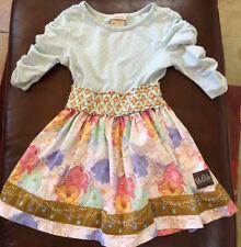 New listing Matilda Jane size 4 blue white pink floral polka dot 3/4 sleeve dress girls