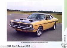 1971 Dodge Dart Demon 340 ci Info/Specs/photo/price 11x8