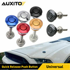 Push Button Quick Release Hood Bonnet Pins Lock Clip Auto Car Bumper Latch Kit